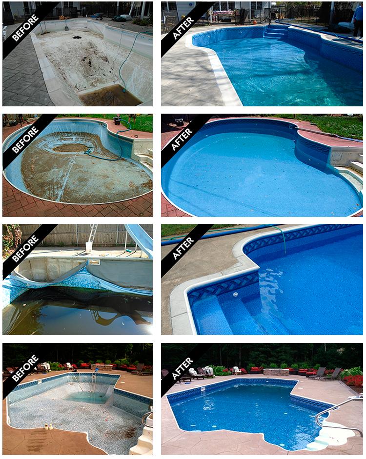 Inground Swimming Pool Liner Replacements