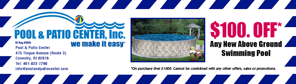 $100 Off at Pool & Patio Center Coupon